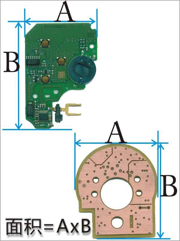 不规则PCB面积计算