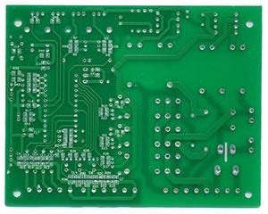 控制板背面元器件孔位