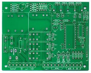 控制板正面元器件孔位