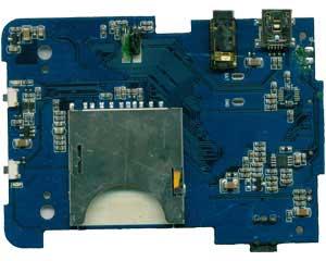 行车记录仪控制板背面器件