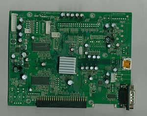 机顶盒控制主板正面器件