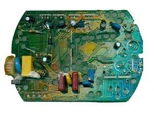 120w 24v 5a 电源板正面器件