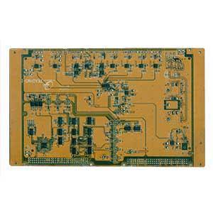 注塑机电脑板去除较高元器件后正面器件