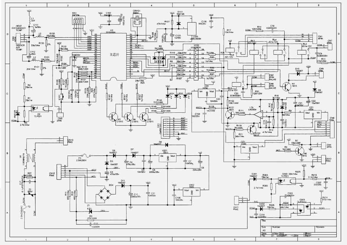 显示板电路原理图